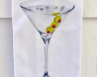 Martini Cotton Huck Kitchen Towel