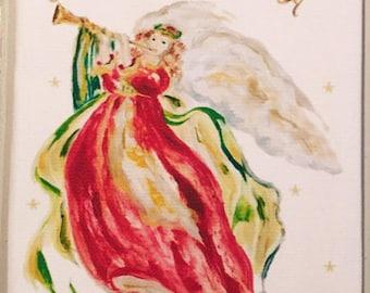 Angel's Song #3052 Cotton Huck Kitchen Towel
