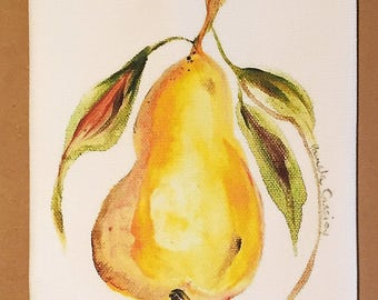 Pear Cotton Huck Kitchen Towel
