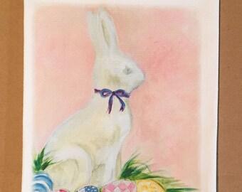The White Rabbit Cotton Huck Kitchen Towel