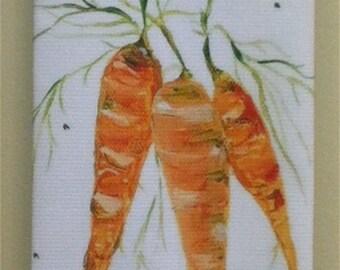 Carrot Cotton Huck Kitchen Towel