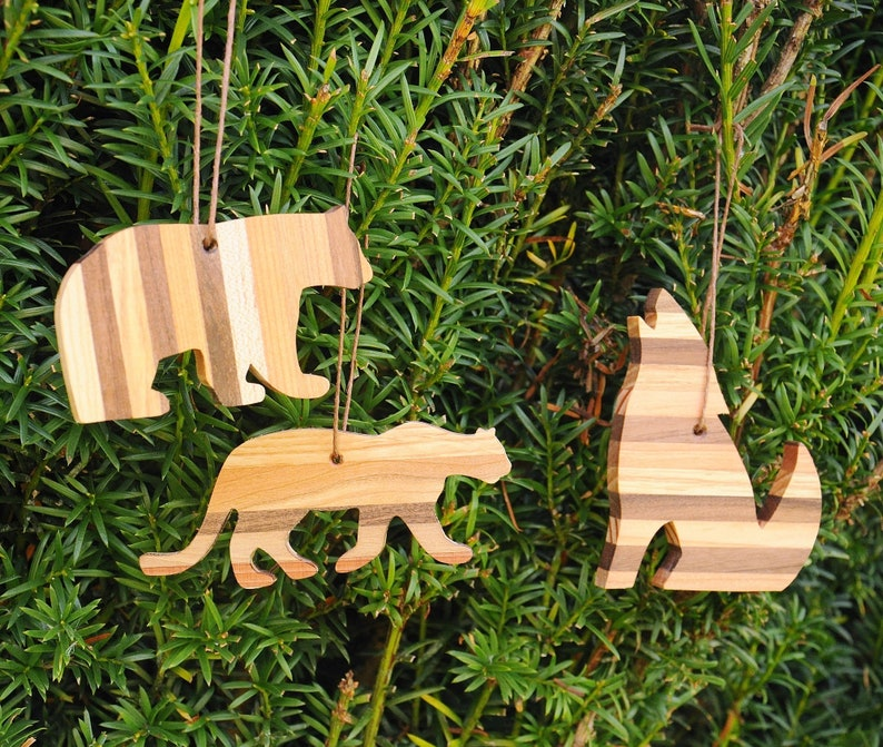 Beautiful Wooden Bear Ornament