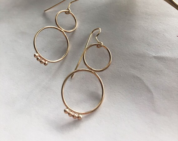 Léonie - gold filled or sterling silver earrings