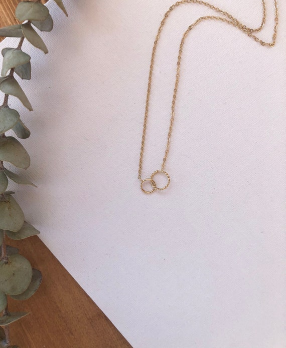 Parker - gold filled or sterling silver  (new) chain, simple infinity minimalist necklace - wedding, gift