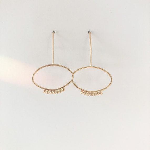 Marni gold filled minimalist earring