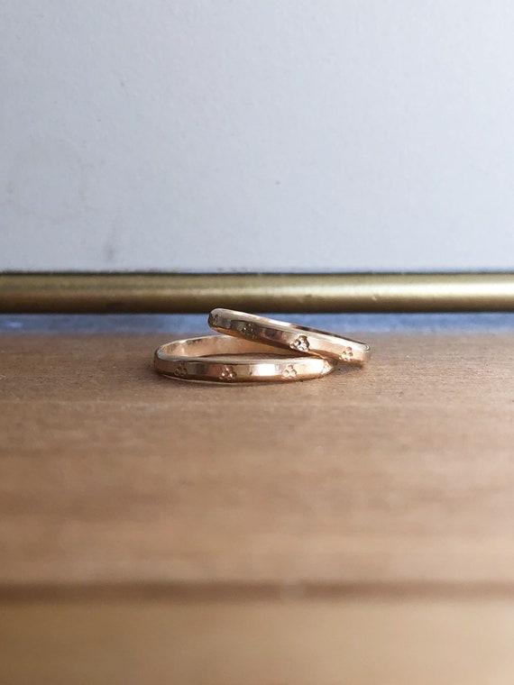 Jolene - Engraved stackable ring - goldfilled