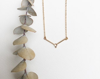 Thyra - gold filled or sterling silver delicate chain and moonstone pendant