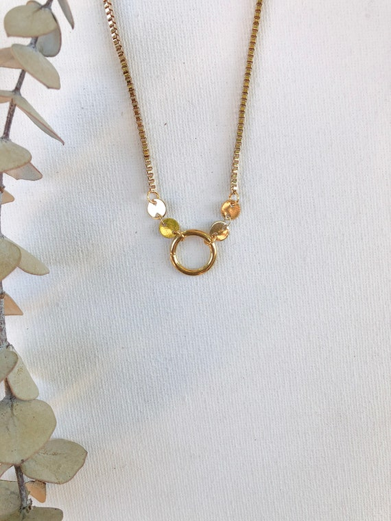 Montana - boxy gold plated chain, simple necklace - wedding, gift