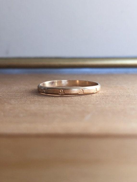 Darlene - Engraved stackable ring - goldfilled