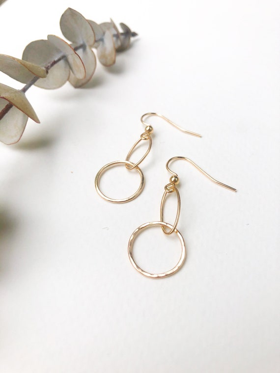Ebele - dainty gold filled earrings- everyday wear