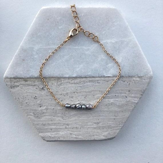 Fallon - minimalist dainty pearl bracelet, wedding, gift