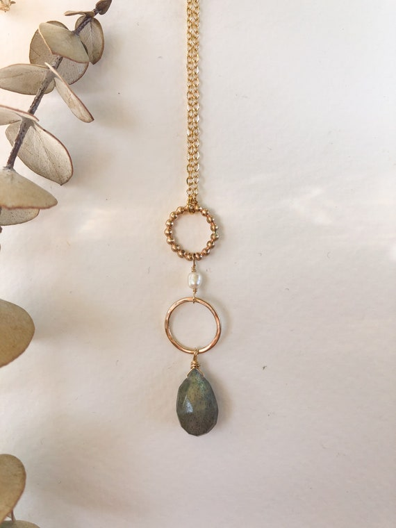 Dottie - gold filled or sterling silver delicate chain and freshwater pearl necklace