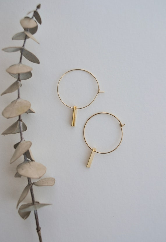 Irina - gold plated dainty hoop earrings