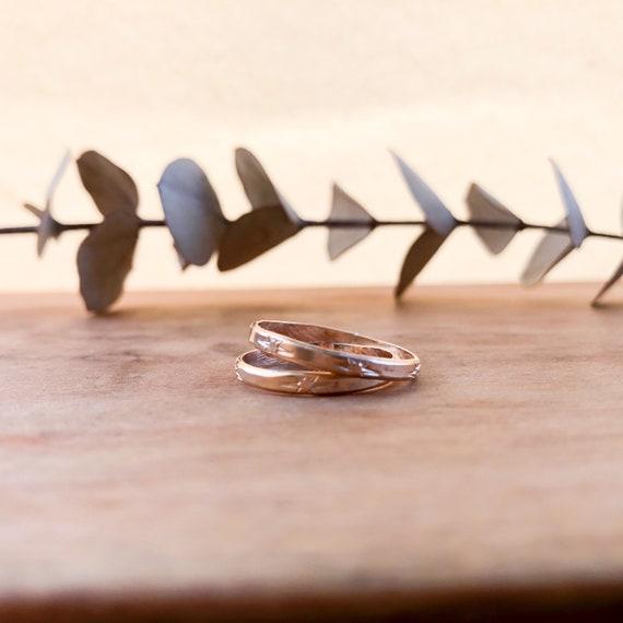 Safa - Engraved stackable ring - goldfilled