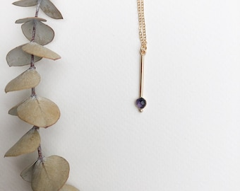 Kate - gold filled or sterling silver delicate chain and kyanite pendant