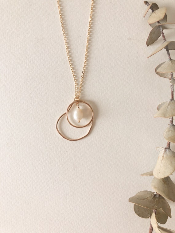 Nour- gold filled or sterling silver delicate chain necklace