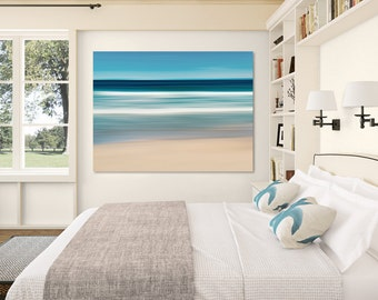 Coastal Wall Print, Abstract Seascape Art, Ocean Canvas Decor, Large Beach Photography, Nautical Wall Decor, Martha's Vineyard, Cape Cod Art