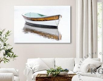 Black /& White Old Arabian Boat Kuwait City CANVAS ART PRINT Box Framed Picture Home Decor
