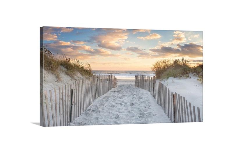 Large Canvas Beach Wall Decor Coastal Print Dunes image 0