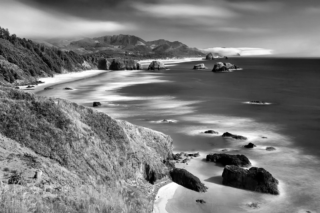 Black And White Seascape Photography