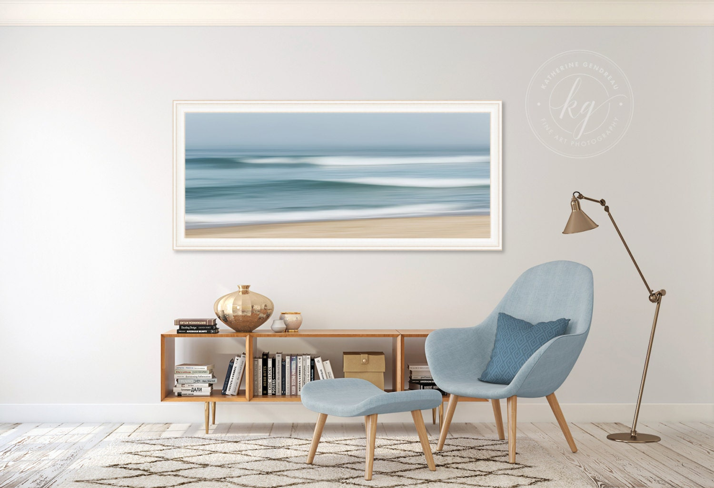Große abstrakte Strand Kunst Meer-Panorama-Foto-Druck   Etsy