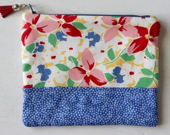 ZIPPERED POUCH - small project bag