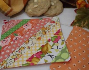 Peach and Orange Fall Scrappy Coaster