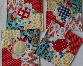 Quilted Coasters set of 4