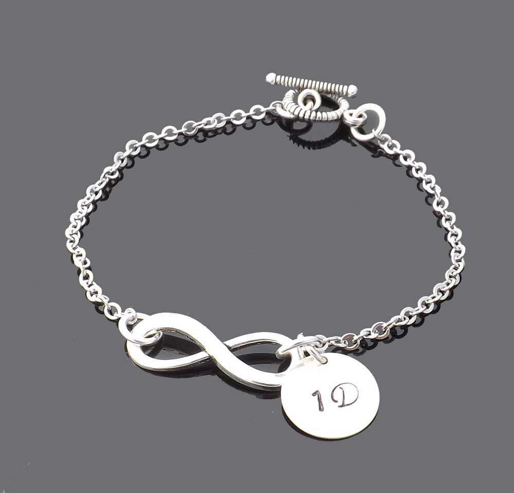 ebf65f735d ID Bracelet One Direction Infinity Bracelet 1D Personalized | Etsy
