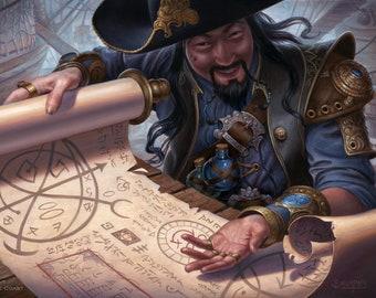 Merchant Scroll Print of Magic: The Gathering Illustration by Scott Murphy