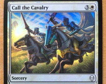 Call the Cavalry, FOIL Limited edition MTG Artist proof, By Scott Murphy
