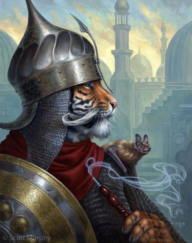 Sipawhi Kaplan Tiger in Armor print by Scott Murphy image 0