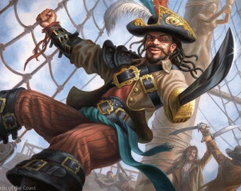 Swaggering Corsair Print of Magic: The Gathering Illustration by Scott Murphy