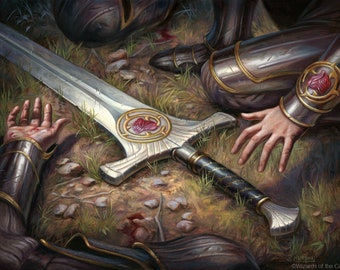 Forebear's Blade Print of Magic: The Gathering Illustration by Scott Murphy