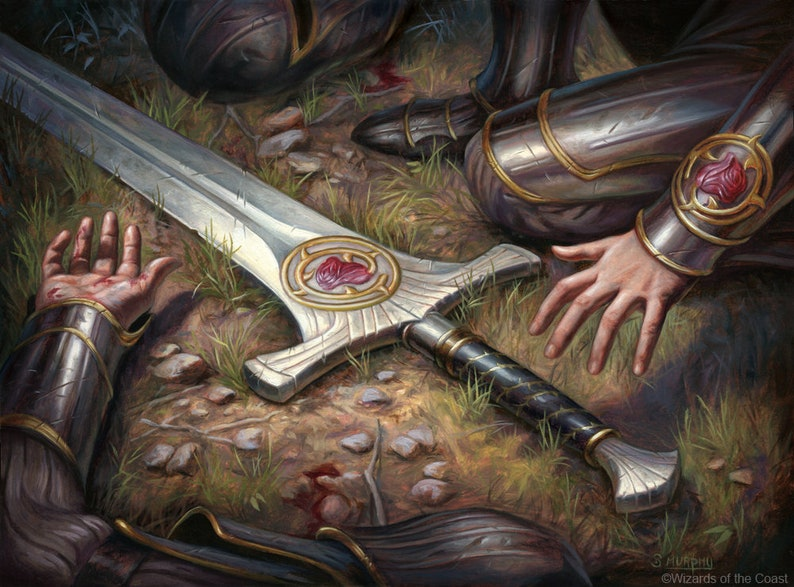 Forebear's Blade Print of Magic: The Gathering image 0