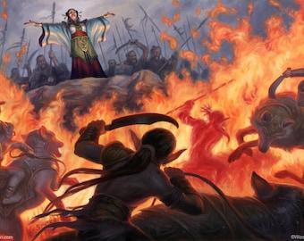 Fire Wall, Dungeons & Dragons art print by Scott Murphy