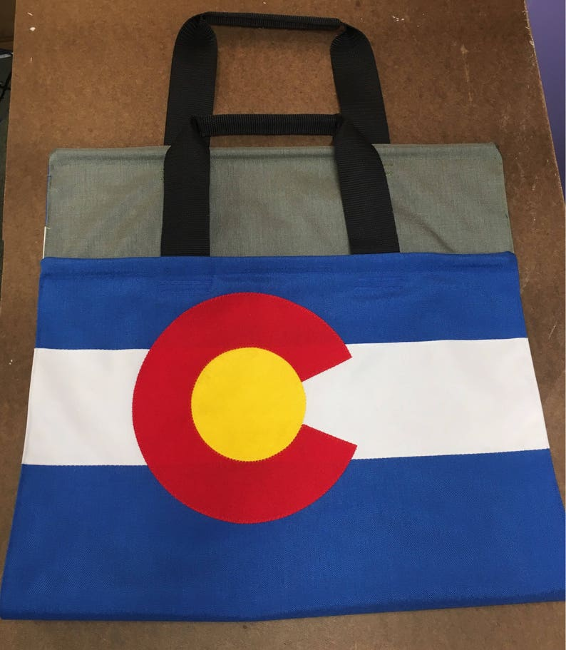 Colorado flag Firewood carrier handmade log holder