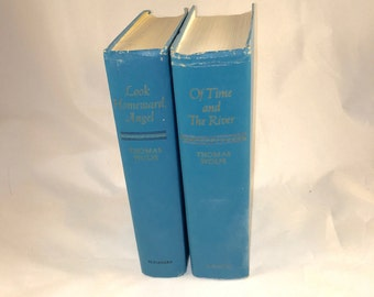 Vintage Decorative Hardcover Books - Pair by Thomas Wolfe