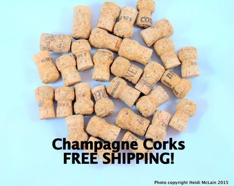 30 Used Champagne Corks FREE SHIPPING