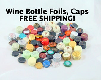 500 Assorted Wine Bottle Foils FREE SHIPPING