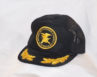 Vintage NRA Cap-Black with Gold embroidery