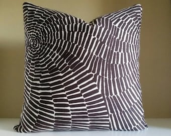 Trina Turk Sonriza Java brown and white pillow,  Indoor Outdoor Decorative Pillow Cover, 18 x18, 20 x 20, 24x24