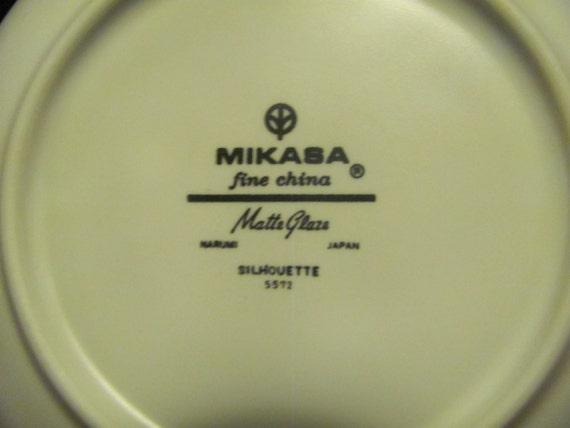 Ten Mikasa Silhouette Dessert Fruit Bowls Gold Rims