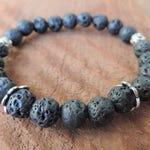 Lava Bracelet, Chakra Bracelet, Healing Meditation Bracelet, Yoga Bracelet, Wrist Mala, Buddhist Bracelet