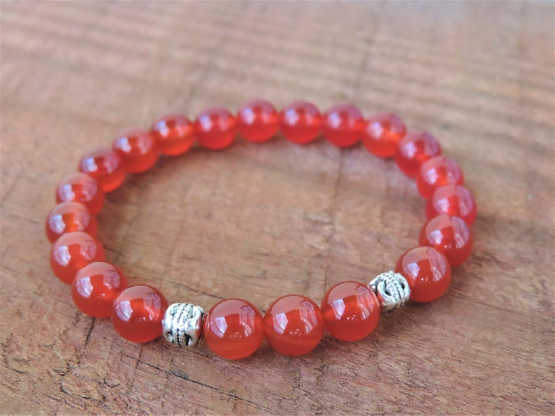 Carnelian Bracelet Chakra Bracelet Healing Meditation image 0