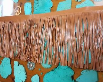 Fringe, Saddle Tan Leather