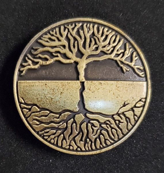 Tree of Life Concho ant silver 1 14