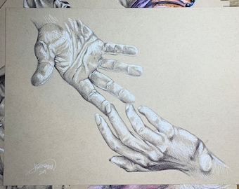 Holding Hands - Limited Edition Print (10)