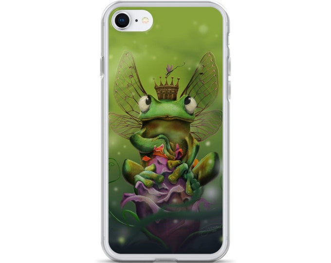 Featured listing image: Frog Princess - iPhone Case