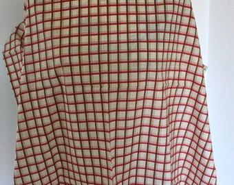 Cotton plaid fabric